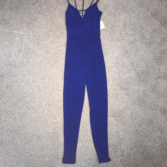 827c5cd41e7 Royal Blue Charlotte Russe One Piece Jumpsuit